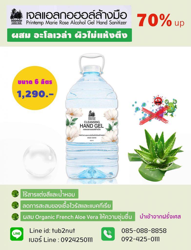 เจลลล้างมือ 6 ลิตร ราคา 1290-vert